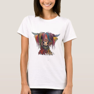 Scottish Hairy Highland Cow ' OLIVER ' T-Shirt