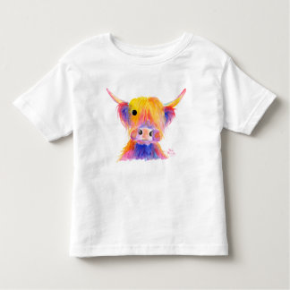Scottish Hairy Highland Friendly Cow ' HOOTIE ' Toddler T-Shirt