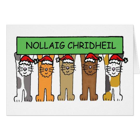 Scottish Happy Christmas Cats Card
