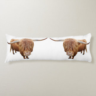 Scottish highland cattle body cushion