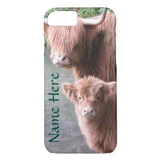 Scottish Highland Cattle, Cow and Calf iPhone 8/7 Case