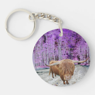 Scottish highland cattle key ring
