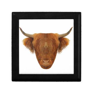 Scottish Highland Cattle Scotland Animal Cow Gift Box