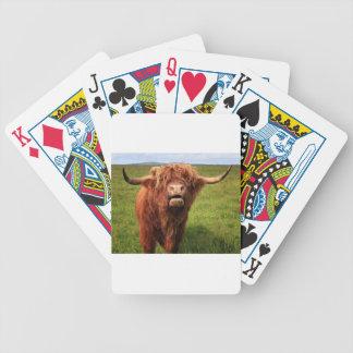 Scottish Highland Cattle - Scotland Bicycle Playing Cards