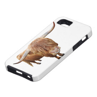 Scottish highland cattle tough iPhone 5 case