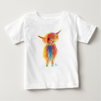 Scottish Highland Cow ' ANGEL ' by Shirley MacArth Baby T-Shirt