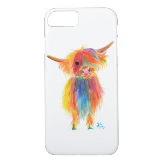 Scottish Highland Cow 'ANGEL' by Shirley MacArthur iPhone 8/7 Case