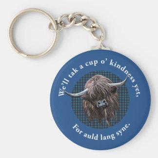 Scottish Highland Cow. Auld Lang Syne. Key Ring