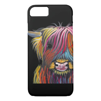 Scottish Highland Cow ' BRaVEHEaRT 2' by Shirley M iPhone 8/7 Case