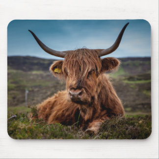 Scottish Highland Cow Longhorn Bull Rancher Mouse Pad
