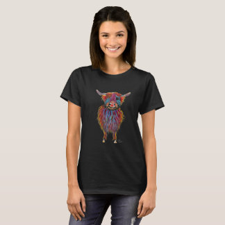 Scottish Highland Cow ' MacDOUGHNUT ' by Shirley M T-Shirt