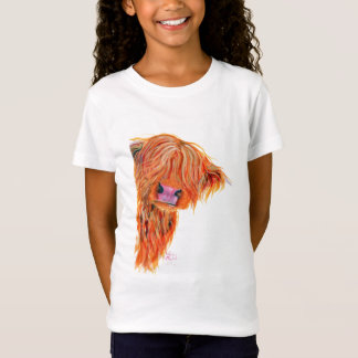 Scottish Highland Cow 'PEEKABOO' T-Shirt
