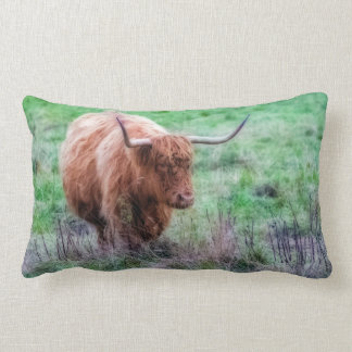 Scottish Highland cow pillow