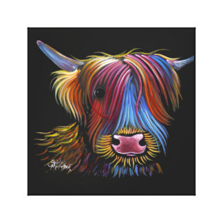 Scottish Highland Cow ' PODGER ' by Shirley M Canvas Print