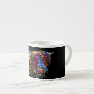 Scottish Highland Cow ' PODGER ' by Shirley M Espresso Cup