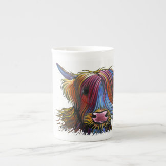 Scottish Highland Cow ' PODGER ' by Shirley M Tea Cup
