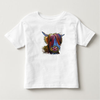 Scottish Highland Cow ' PODGER ' by Shirley M Toddler T-Shirt