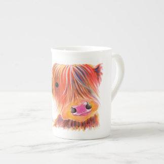 Scottish Highland Cow ' SWEET SATSUMA ' by Shirley Tea Cup