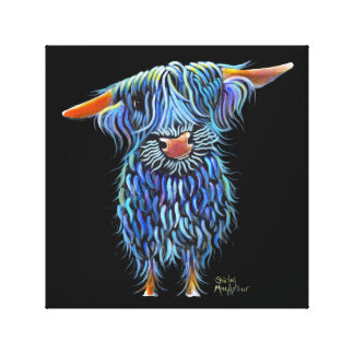 Scottish Highland Cow ' THoMaS ' by Shirley M Canvas Print