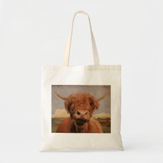 Scottish highland cow bags