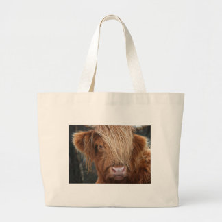 Scottish Highland Cows - Scotland Large Tote Bag
