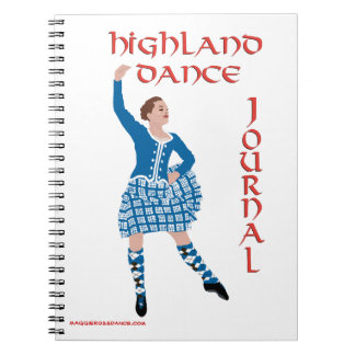 Scottish Highland Dance Journal Spiral Notebooks