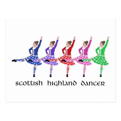 Scottish Highland Dance Line Post Card