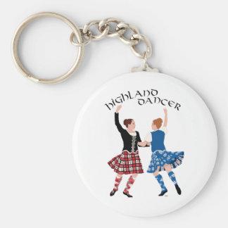 Scottish Highland Dance Reel Basic Round Button Key Ring