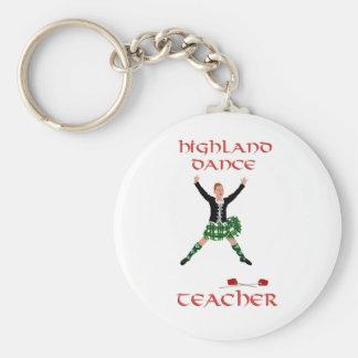 Scottish Highland Dance Teacher Basic Round Button Key Ring