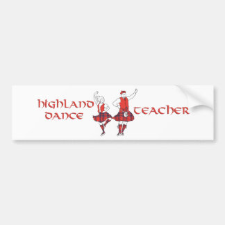 Scottish Highland Dance Teacher - Silhouette Bumper Sticker