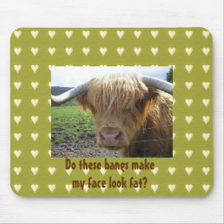 Scottish Highlands Steer Humor - Mousepad