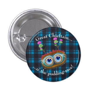 Scottish Hoots Toots. Chieftain 3 Cm Round Badge
