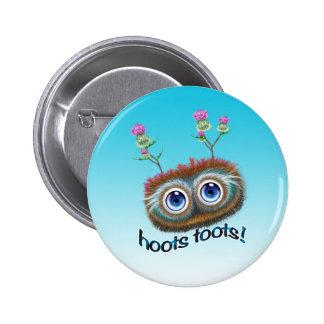 Scottish 'Hoots Toots' Haggis 6 Cm Round Badge