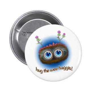 Scottish 'Hoots Toots Haggis' 6 Cm Round Badge