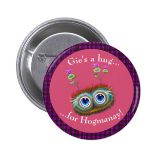Scottish Hoots Toots Haggis. Hugs Pinback Buttons