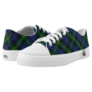 Scottish House of Gordon Clan Tartan Low Tops
