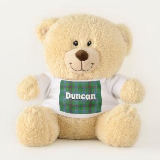 Scottish Hugs Clan Duncan Tartan Plaid Teddy Bear