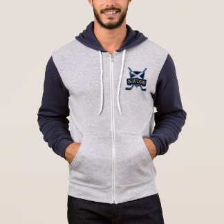 Scottish Ice Hockey Flag Logo Zip Hoodie