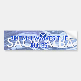Scottish Independence Britain Waives the Rules Bumper Sticker