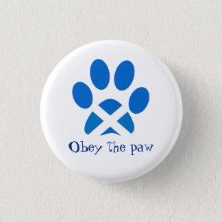 Scottish Independence Cat Paw Print Saltire Badge