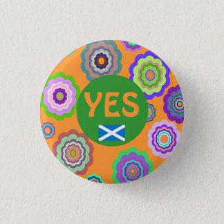 Scottish Independence Flower Power Saltire Badge