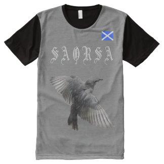 Scottish Independence Gaelic Saorsa Bird T-Shirt All-Over Print T-Shirt