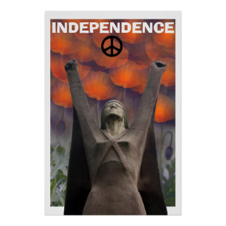 Scottish Independence La Pasionaria Poppy  Poster
