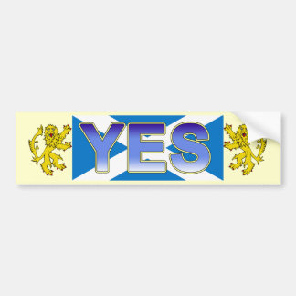 Scottish Independence Lion Rampant Bumper Sticker