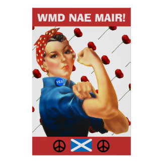Scottish Independence Red Poppies Poster