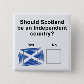 Scottish Independence Referendum Question 15 Cm Square Badge