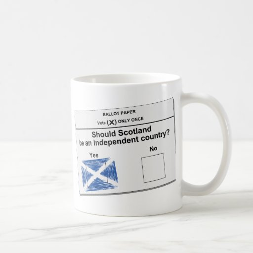Scottish Independence Referendum Question Mugs