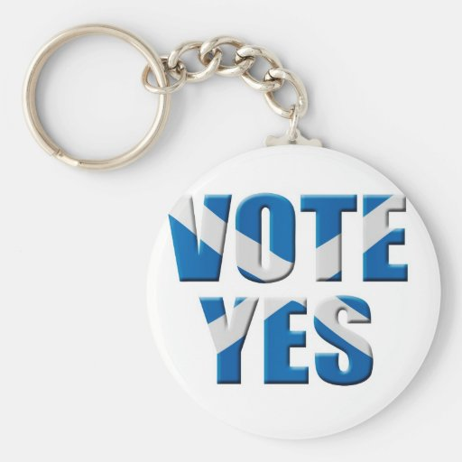 Scottish independence referendum - vote yes keychain