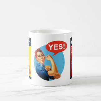 Scottish Independence Retro Strong Woman Yes Mug