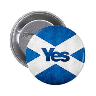 Scottish Independence - Saltire Yes Badge